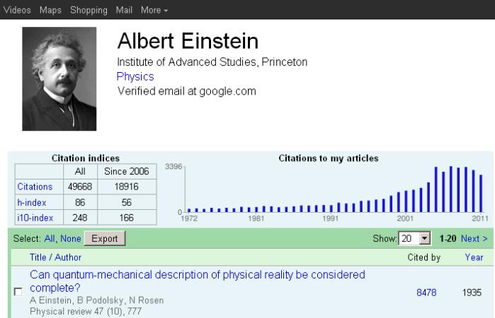 Google Scholar Citations Theoretical Ecology