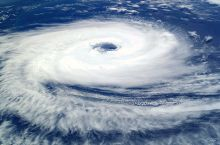 Cyclone Catarina from the ISS on March 26 2004. Image from NASA, PD.