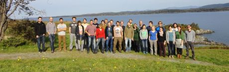 Group photo of the Bayes summer school at Lygra, Norway.